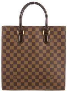 5f965ac01e78 Louis Vuitton Damier Ebene Venice Sac Plat ~ Brown and tan Damier Ebene  coated canvas Louis