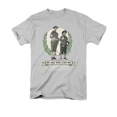 ABBOTT & COSTELLO/BE ALL YOU CAN BE - S/S ADULT 18/1 - SILVER