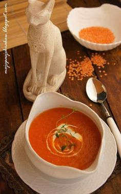 Egipska zupa-krem z soczewicy Polish Recipes, Bon Appetit, Thai Red Curry, Food And Drink, Ethnic Recipes, Kitchen, Blog, Cooking, Polish Food Recipes