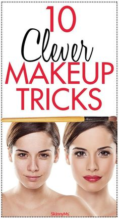Beauty Secrets 10 Clever Makeup Tricks You Need to Try. - These clever makeup tricks will give you all you need to create an ideal look! Makeup Tricks, Makeup Ideas, Makeup Tutorials, Makeup Tools, Makeup Brushes, Dry Eyes Causes, Beauty Hacks For Teens, Eyes Problems, Skinny Ms