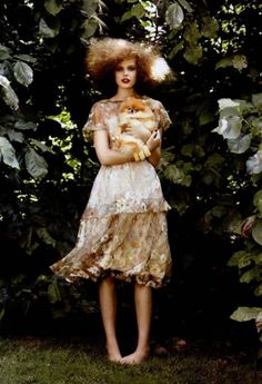 Frida (and friend!) Gustavsson in Vogue US November 2010.