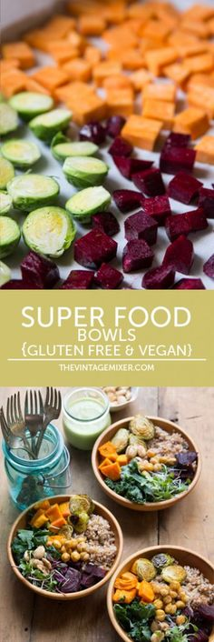 Super Food Bowls #glutenfree #vegan #healthyrecipe