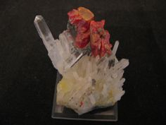 Mineral Specimen  Realgar Quartz by NearEarthExploration on Etsy, $36.00