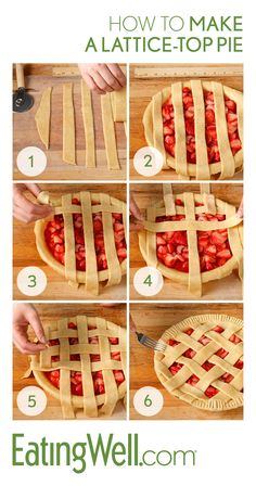 Intimidated by making a lattice-top for your favorite pie? This how-to video wil… Intimidated by making a lattice-top for your favorite pie? This how-to video will show you just how easy making a pretty pie can be! – Cocktails and Pretty Drinks Lattice Pie Crust, Easy Pie Crust, Pie Crust Recipes, Apple Pie Recipes, Sweet Recipes, Pie Crusts, Pasta Recipes, Pie Crust Designs, Pie Decoration