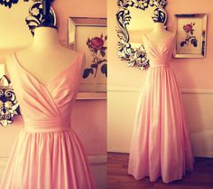 Mori Lee Pink Evening Gown- XS. $250.00, via Etsy.