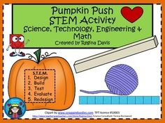 S.T.E.M. activities may seem daunting when teaching young children. This is a STEM activity that I created to go with pumpkins and fall.  I would use this pumpkin roll activity when reading books about pumpkins in either October or November.   I like to include literature, reading, and writing into my STEM activity so that I can incorporate it into my reading block if needed.