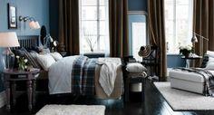 RX IKEA_Bedroom Boys Blue Boys Bedroom With Brown Drapes bedroom color schemes beige Bedroom Color Combination, Bedroom Colour Palette, Bedroom Color Schemes, Colour Schemes, Grey Palette, Dark Blue Bedrooms, Navy Bedrooms, Bedroom Suites, Master Bedrooms