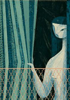 Gosia Herba, Zumurrud-the Smaragdine, 2015   See more art on iheartmyart.com   #art   #artist   #illustration   #illustrator   #GosiaHerba   #iheartmyart