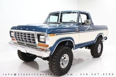 Check this out! I really enjoy this paint color for this lifted ford 1979 Ford Bronco, 1979 Ford Truck, Gm Trucks, Lifted Ford Trucks, Chevy Trucks, Lifted Dually, Ford Obs, Custom Truck Parts, Custom Trucks