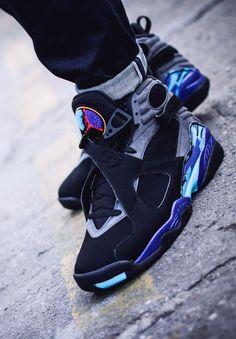 17f80c6a65065a Air Jordan 8 Retro AQUA (via Kicks-daily.com) Jordans Sneakers