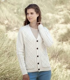 Woman & Art: LAMBSWOOL V NECK CARDIGAN FOR MEN AND WOMEN
