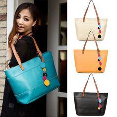 Women's Fashion Leather Cute Shoulder Bag Shopper Tote Bag Handbag