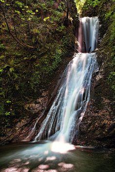 Glen Mooar Waterfall, Isle of Man.