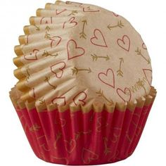 Cupcake Heavy Duty Thick Mini//Small Coated Baking Cups Scalloped edge candy pattern 25 pieces