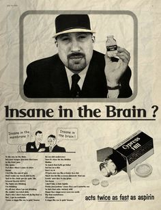 Insane in the brain / Cypress Hill © Ads Libitum :Shop/facebook/tumblr/portfolio