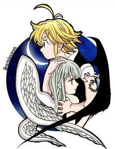 That is so cool and beautiful Anime Meliodas, Sir Meliodas, Yandere Anime, Elizabeth Seven Deadly Sins, Seven Deadly Sins Anime, 7 Deadly Sins, Meliodas And Elizabeth, Seven Deady Sins, Kamigami No Asobi