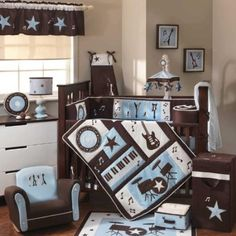 Lambs and Ivy Rock and Roll Bedding and Decor