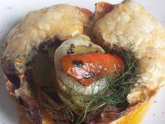 Fabulosa receta para Cola de langosta Termidor.  Esta es una esta rica y fácil receta típica de la cocina francesa. la salsa termidor es una delicia, y es  ideal para pescados y mariscos.
