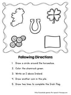 Worksheets Dysgraphia Worksheets pinterest the worlds catalog of ideas patricks day craftivity worksheets teacherspayteachers com following directions