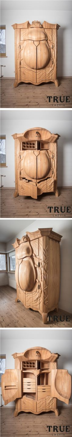 Art Furniture, Woodcarving, Wood Art, Future, Shop, How To Make, Closet, Design, Future Tense
