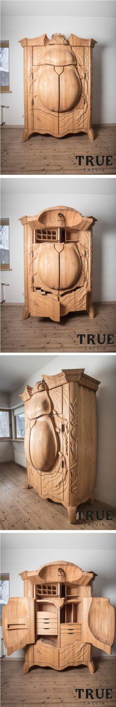 Art Furniture, Woodcarving, Wood Art, Future, Shop, How To Make, Closet, Design, Wooden Art