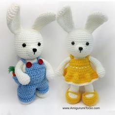 (FREE) Dress Me Bunny Boy And Girl Amigurumi Pattern by AmigurumiToGo