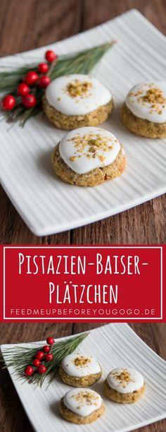 Pistazien-Baiser-Plätzchen Rezept Weihnachtsgebäck / Pistachio meringue cookies // Feed me up before you go-go