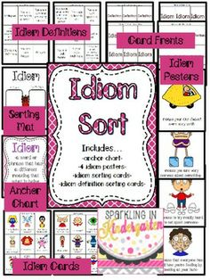 Idiom Sorting Activity with Sorting Mat & Cards