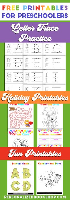 Free Printables for Preschoolers | Letter Trace Practice | Preschool Holiday Activities | Fun Printables for Preschool