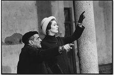 Luis Buñuel and Catherine Deneuve on the set of 'Tristana'. Toledo, Spain (1969). Photo by Mary Ellen Mark.