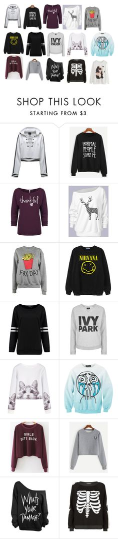 """""""Sweatshirts"""" by amandagailadey ❤ liked on Polyvore featuring Puma, WithChic, Adolescent Clothing, Chicnova Fashion, Topshop and Wildfox"""