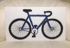 Bicycle String Art, Bike, Cycling- order from KiwiStrings on Etsy! www.kiwistrings.etsy.com