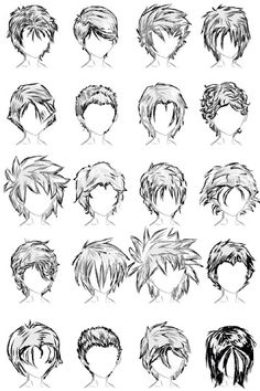 20 male hairstyles by ~lazycatsleepsdaily on deviantart. 20 male hairstyles by ~lazycatsleepsdaily on deviantart anime hair drawing, drawing male hair, Drawing Male Hair, Body Drawing, Manga Drawing, Drawing Tips, Anime Hair Drawing, Drawing Ideas, Drawing Tutorials, Hair Styles Drawing, Hair Drawings