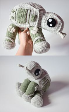 Designer krawka s at at walker crochet pattern gives any crafty person the opportunity to create their own adorable star wars toy pattern crochet teddy bear pattern amigurumi teddy bear tutorial crochet toy animal pdf Star Wars Crochet, Crochet Stars, Cute Crochet, Crochet Crafts, Yarn Crafts, Crochet Baby, Knit Crochet, Frozen Crochet, Crochet Beanie Pattern