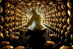 Inside the tank of a neutrino detector located deep inside a mountain in the Japanese alps.mw-oct10-boom_0277-3