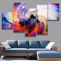 Free Shipping! This modern firework swirl design from BigWallPrints.com is an affordable way to make an impact in any room! Our panel art is printed on high quality canvas, and will stand the test of