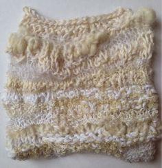 Julia Wright, free-form textural knitting