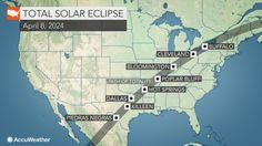 Monday& total solar eclipse was one of the biggest astronomical events of the year, but people that missed it will have the chance to see another in less than a decade. 2024 Eclipse, Full Eclipse, Eclipse Path, Weekend Weather, Weather News, Solar Eclipse Map, Travel Usa, Travel Tips, Travel Ideas