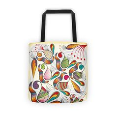Indian paisley pattern Tote bag