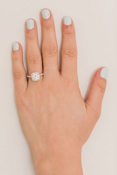Icy blue mani   James Allen engagement ring