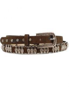 Nocona Metal Bar Crystal Belt