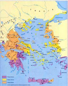 grecia clasica Greek History, Roman History, World History, Ancient History, Roman Names, Bible Mapping, Area Map, Minoan, Historical Maps