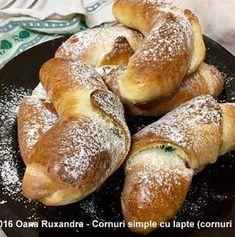 Cornuri pufoase si foietate cu branza, cu gem sau cu rahat | Savori Urbane Pretzel Bites, Unt, Bread, Food, Meal, Essen, Hoods, Breads, Meals