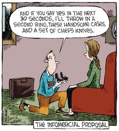 "The Infomercial Proposal...    - ""Speed Bump"" by Dave Coverly;  1/21/15"