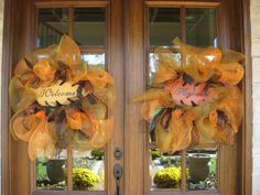 Kristen's Creations: ~Fresh Flower Pumpkins and Ribbon Wreaths~