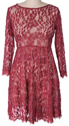 Sheer fashion! Free shipping&easy return! This lace dress is detailed with delicate lace&rough hem! So cute&sassy at Cupshe.com