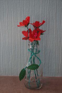 DIY tuto Bouquet de fleurs en plastique fou