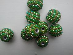 CLEARANCE5 piece Sparkling Vibrant green and by Jazzigirljewelry, $5.95