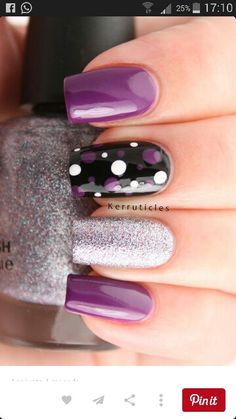Latest 45 easy nail art designs for short nails 2016 cute nails, pretty nails, Fancy Nails, Love Nails, Diy Nails, Sparkly Nails, Cute Easy Nails, Dream Nails, Gorgeous Nails, Nagellack Design, Nails Polish