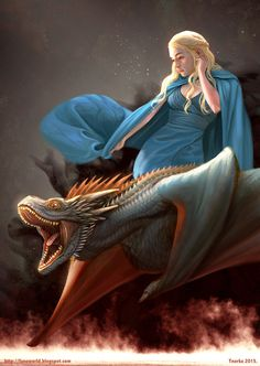 Daenerys and Drogon, Ynorka Chiu on ArtStation at https://www.artstation.com/artwork/daenerys-and-drogon-62b98d7c-75ac-4e43-a75a-5bcd6237c7a9